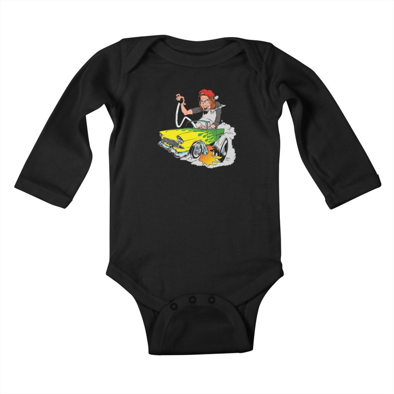 Topless 56 Chevy Kids Baby Longsleeve Bodysuit by EngineHouse13's Artist Shop