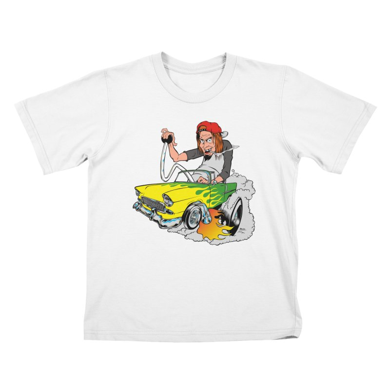 Topless 56 Chevy Kids T-Shirt by EngineHouse13's Artist Shop