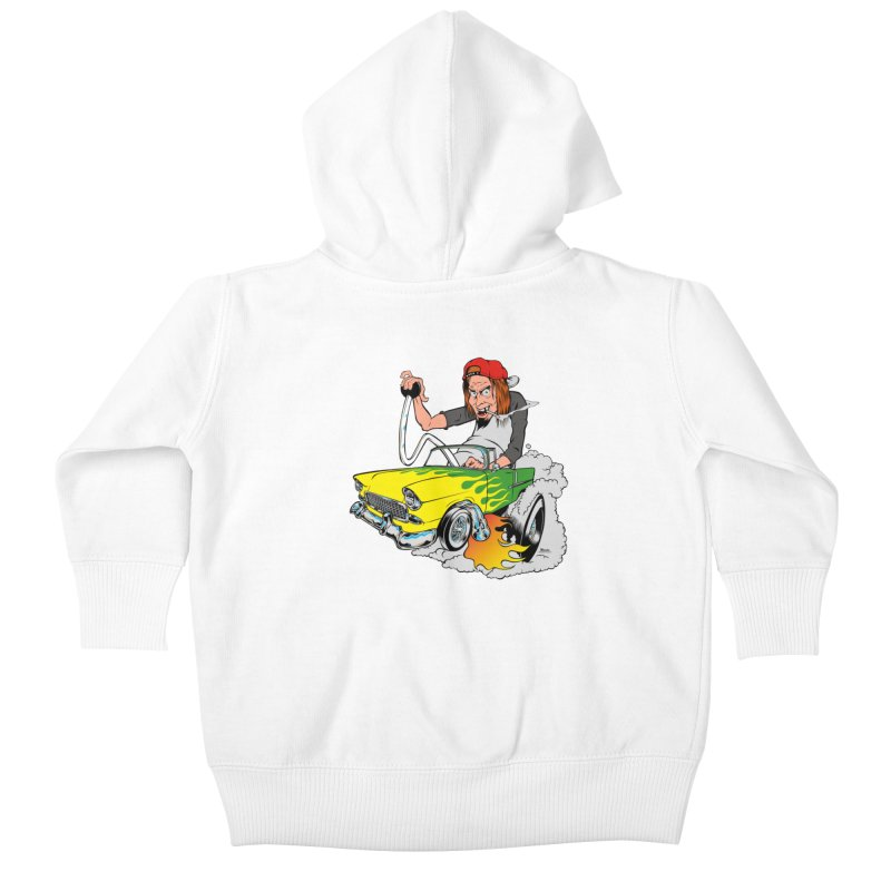 Topless 56 Chevy Kids Baby Zip-Up Hoody by EngineHouse13's Artist Shop