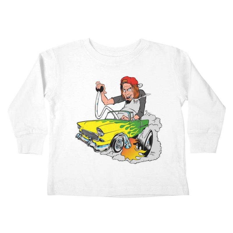 Topless 56 Chevy Kids Toddler Longsleeve T-Shirt by EngineHouse13's Artist Shop