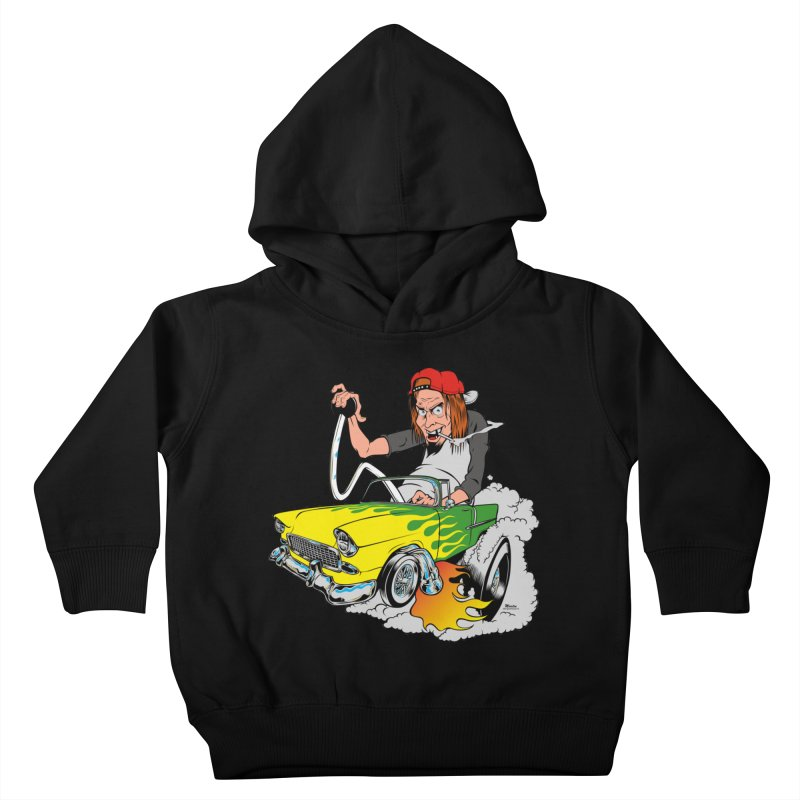 Topless 56 Chevy Kids Toddler Pullover Hoody by EngineHouse13's Artist Shop