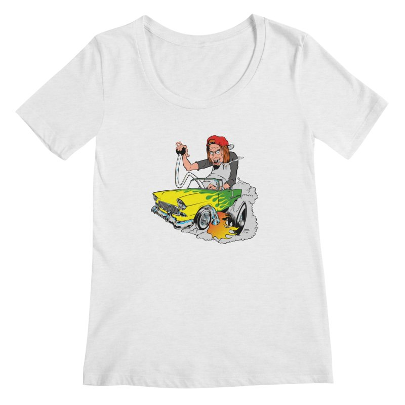 Topless 56 Chevy Women's Regular Scoop Neck by EngineHouse13's Artist Shop