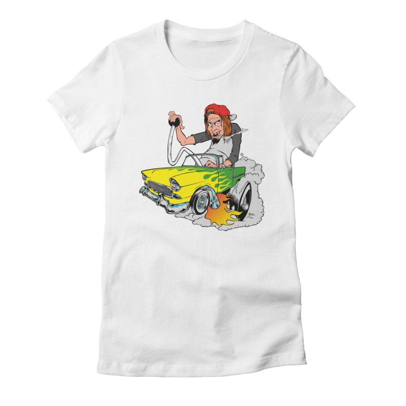 Topless 56 Chevy Women's Fitted T-Shirt by EngineHouse13's Artist Shop