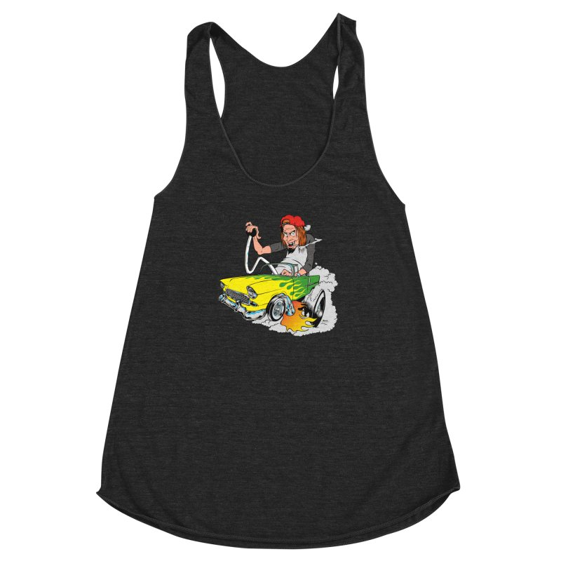 Topless 56 Chevy Women's Racerback Triblend Tank by EngineHouse13's Artist Shop
