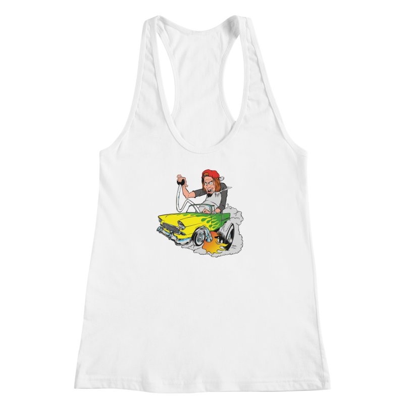Topless 56 Chevy Women's Racerback Tank by EngineHouse13's Artist Shop