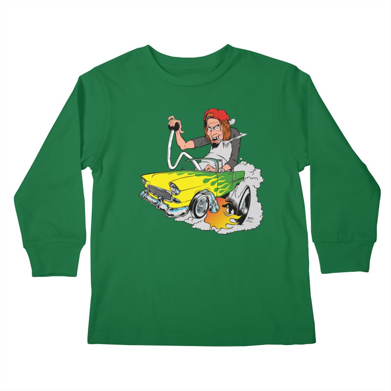 Topless 56 Chevy Kids Longsleeve T-Shirt by EngineHouse13's Artist Shop