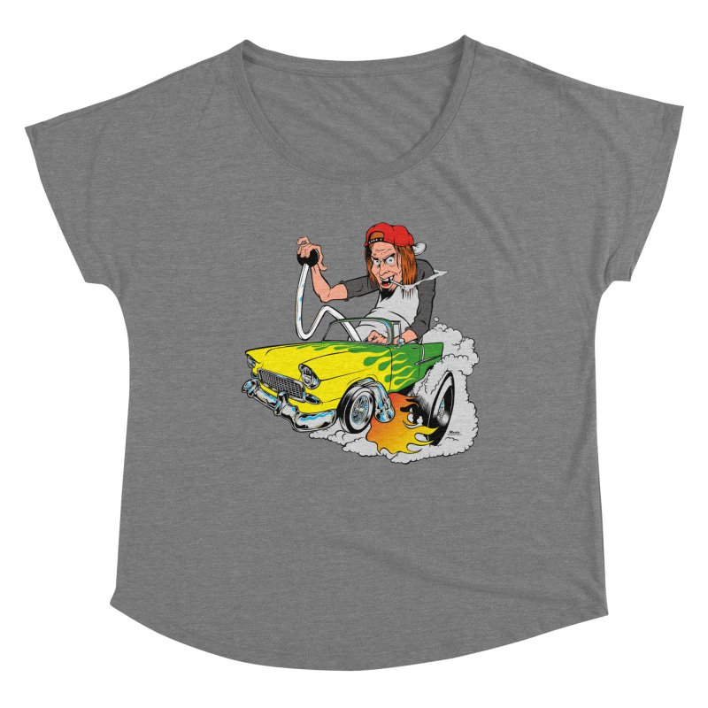Topless 56 Chevy Women's Scoop Neck by EngineHouse13's Artist Shop