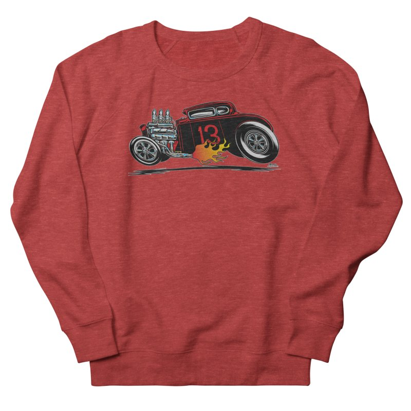 5 Window Speedie Men's French Terry Sweatshirt by EngineHouse13's Artist Shop