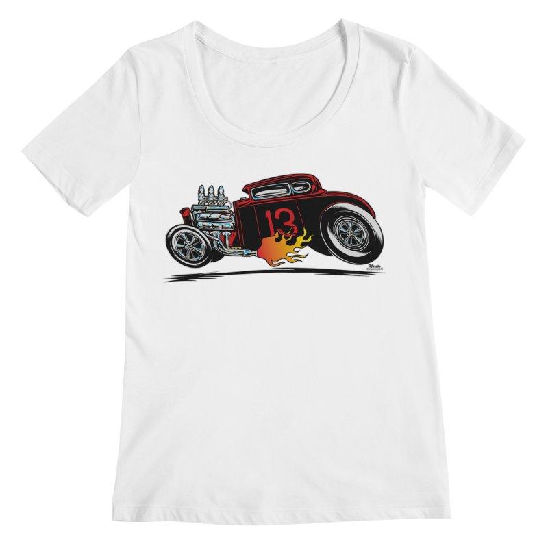 5 Window Speedie Women's Scoopneck by EngineHouse13's Artist Shop
