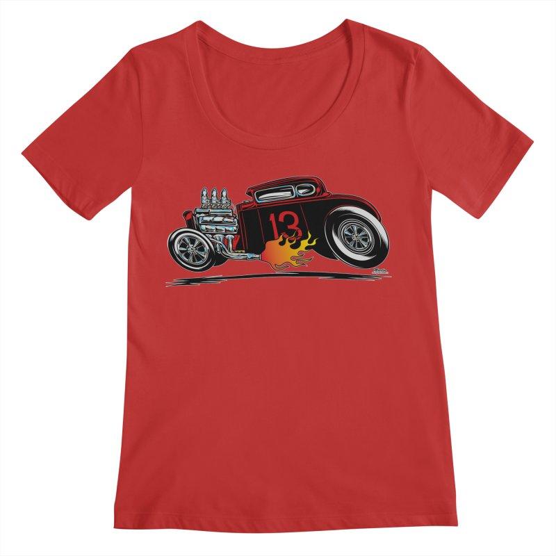 5 Window Speedie Women's Regular Scoop Neck by EngineHouse13's Artist Shop
