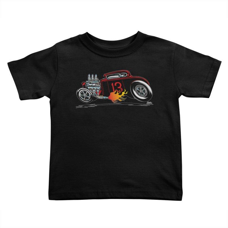 5 Window Speedie Kids Toddler T-Shirt by EngineHouse13's Artist Shop