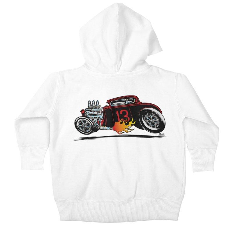 5 Window Speedie Kids Baby Zip-Up Hoody by EngineHouse13's Artist Shop