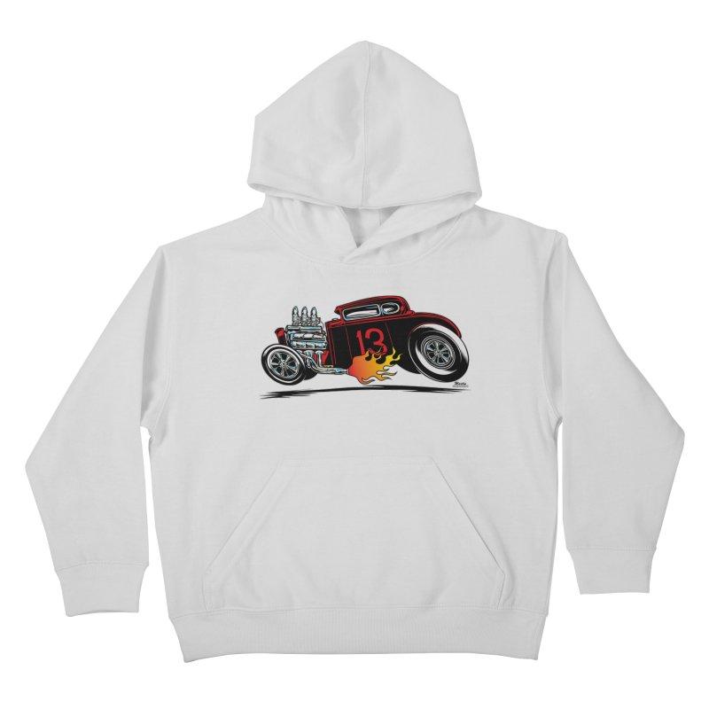 5 Window Speedie Kids Pullover Hoody by EngineHouse13's Artist Shop