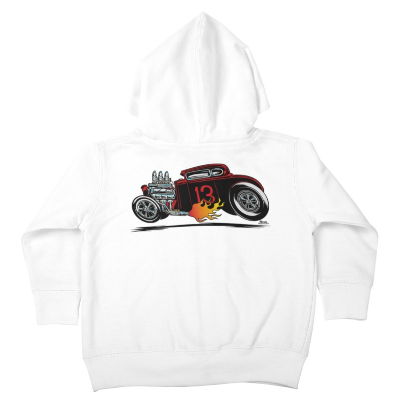 5 Window Speedie Kids Toddler Zip-Up Hoody by EngineHouse13's Artist Shop