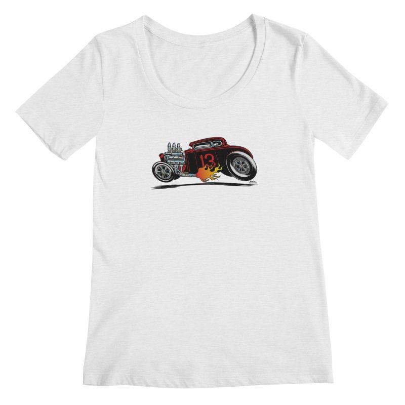 5 Window Speedie Women's Scoop Neck by EngineHouse13's Artist Shop