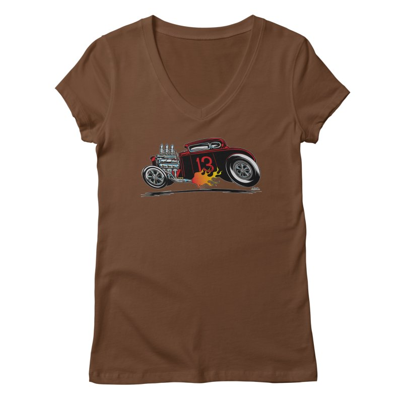 5 Window Speedie Women's V-Neck by EngineHouse13's Artist Shop