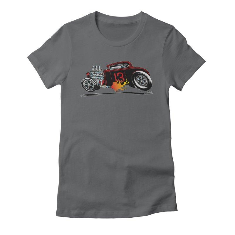 5 Window Speedie Women's Fitted T-Shirt by EngineHouse13's Artist Shop