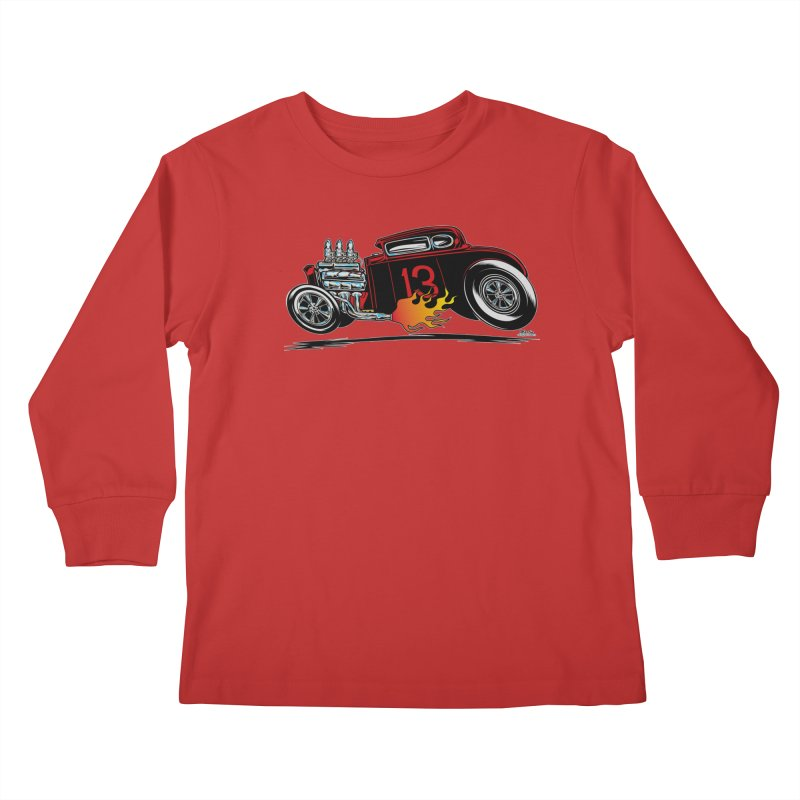 5 Window Speedie Kids Longsleeve T-Shirt by EngineHouse13's Artist Shop