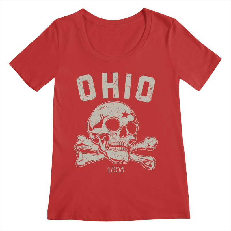 OHIO est.1803 Women's Scoop Neck by EngineHouse13's Artist Shop