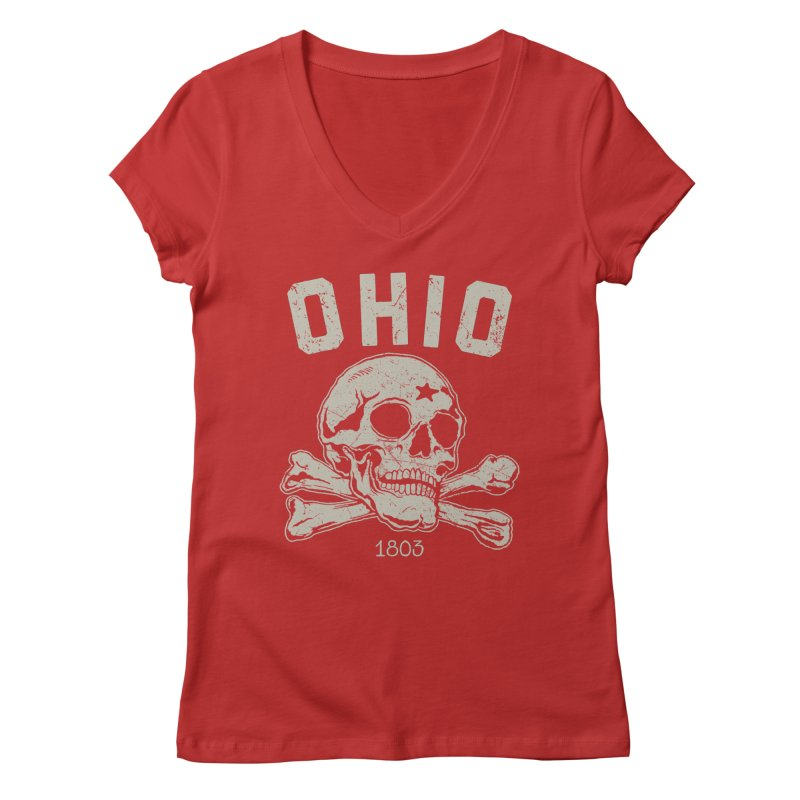OHIO est.1803 Women's V-Neck by EngineHouse13's Artist Shop