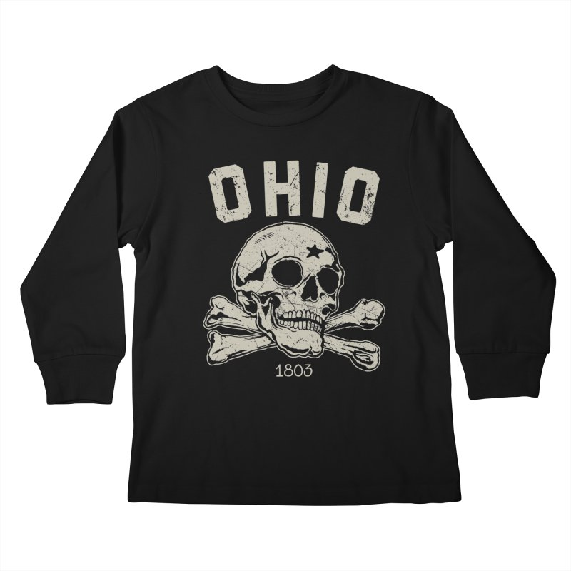 OHIO est.1803 Kids Longsleeve T-Shirt by EngineHouse13's Artist Shop