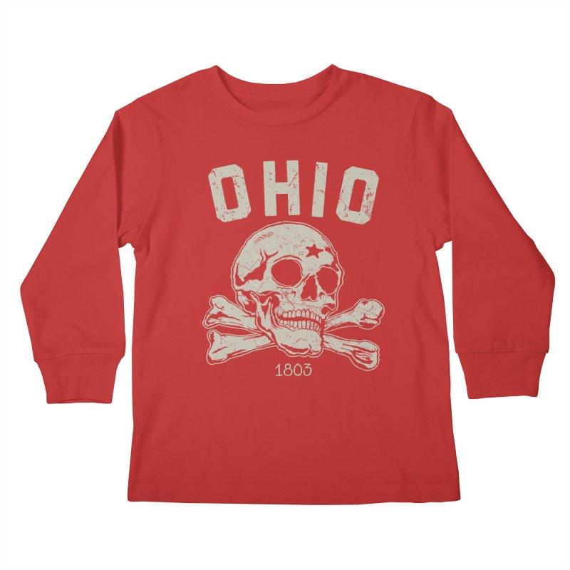 OHIO est.1803 Kids Longsleeve T-Shirt by EngineHouse13's Artist Shop