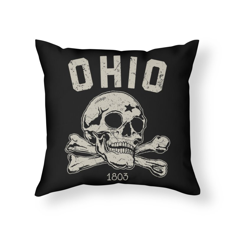 OHIO est.1803 Home Throw Pillow by EngineHouse13's Artist Shop