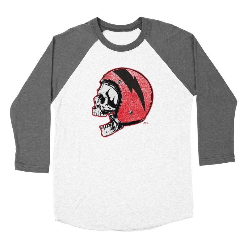 Helmet Skull Women's Longsleeve T-Shirt by EngineHouse13's Artist Shop