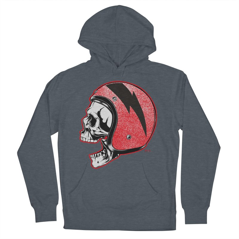 Helmet Skull Men's French Terry Pullover Hoody by EngineHouse13's Artist Shop