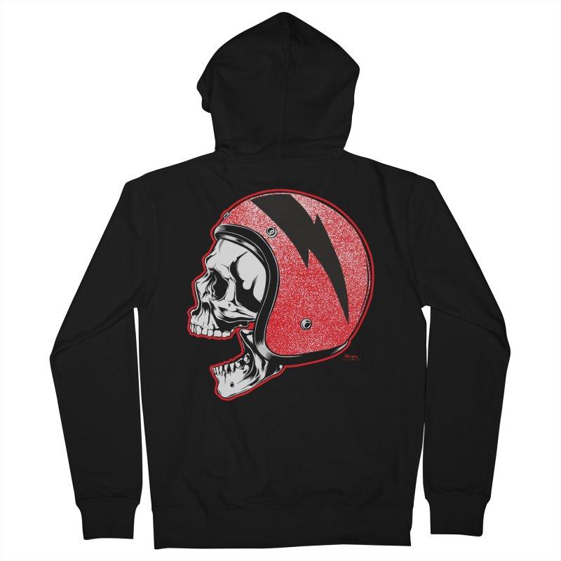 Helmet Skull Women's French Terry Zip-Up Hoody by EngineHouse13's Artist Shop