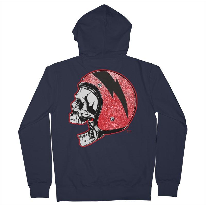 Helmet Skull Women's Zip-Up Hoody by EngineHouse13's Artist Shop