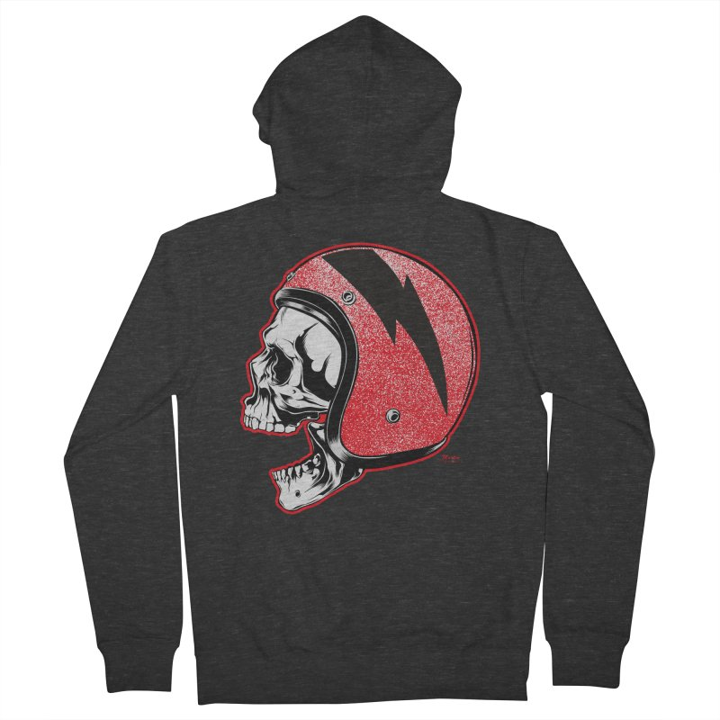 Helmet Skull Men's Zip-Up Hoody by EngineHouse13's Artist Shop