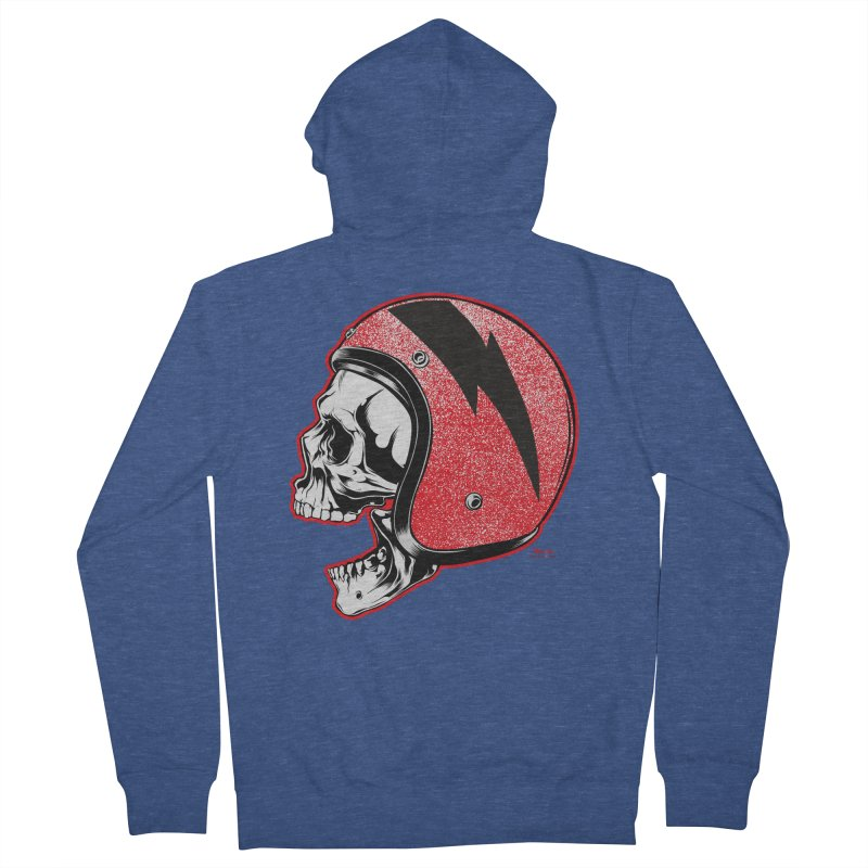 Helmet Skull Men's Zip-Up Hoody by EngineHouse13's Artist Shop