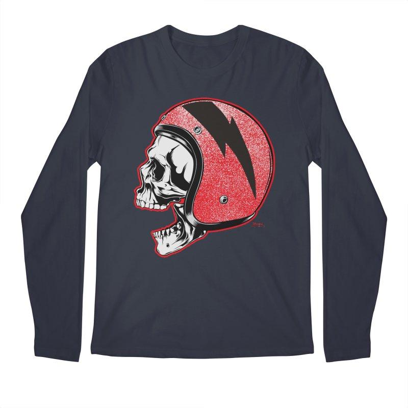 Helmet Skull Men's Longsleeve T-Shirt by EngineHouse13's Artist Shop
