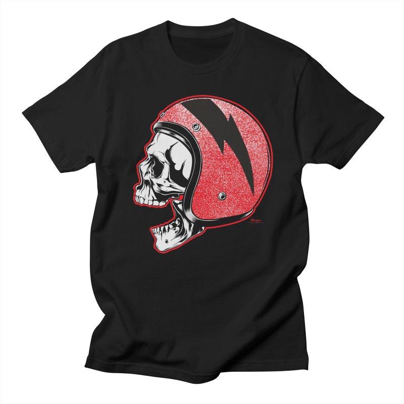 Helmet Skull Men's Regular T-Shirt by EngineHouse13's Artist Shop