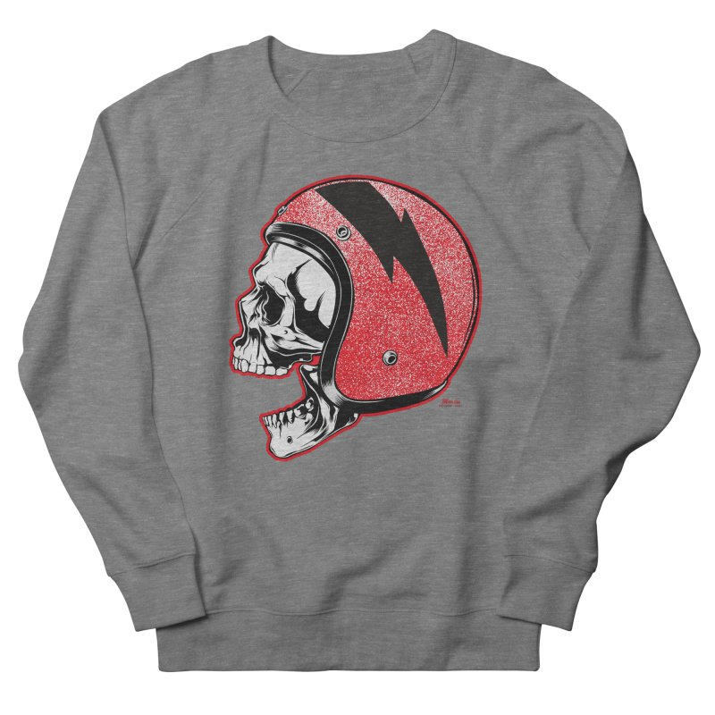 Helmet Skull Women's French Terry Sweatshirt by EngineHouse13's Artist Shop