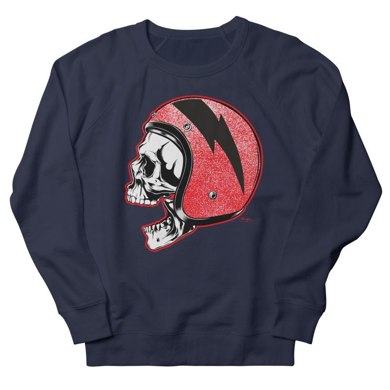 Helmet Skull Women's Sweatshirt by EngineHouse13's Artist Shop