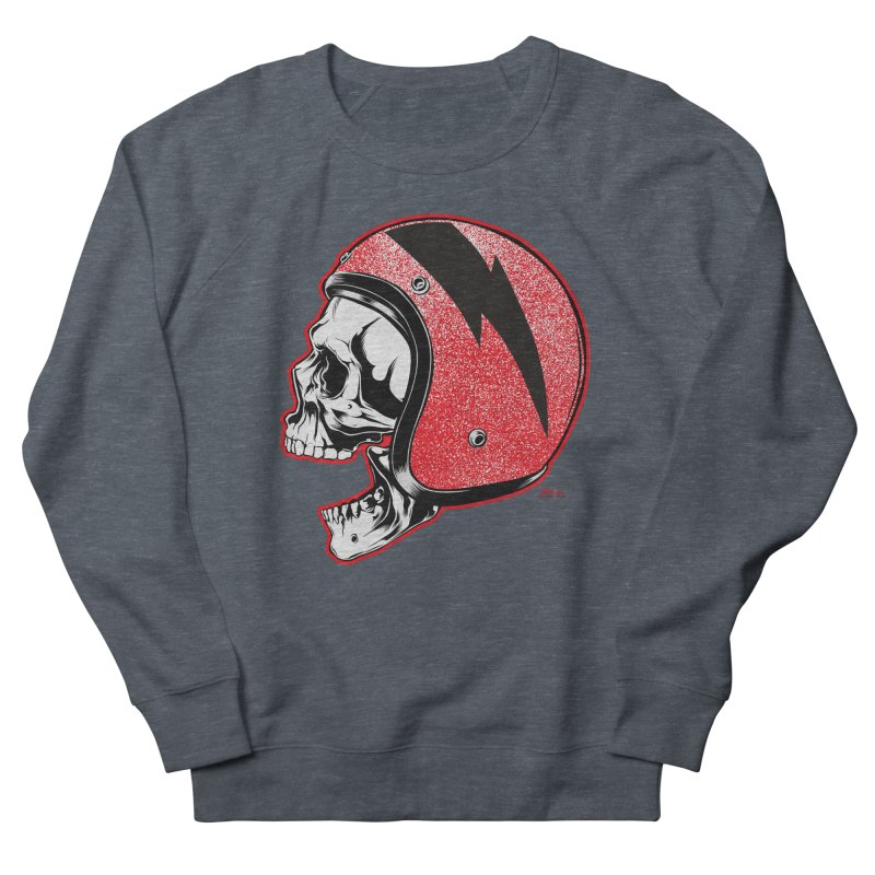 Helmet Skull Men's Sweatshirt by EngineHouse13's Artist Shop