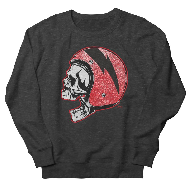 Helmet Skull Men's French Terry Sweatshirt by EngineHouse13's Artist Shop