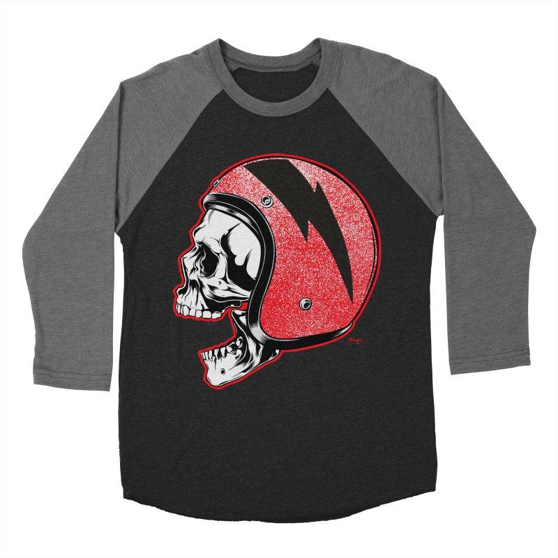 Helmet Skull Women's Baseball Triblend T-Shirt by EngineHouse13's Artist Shop