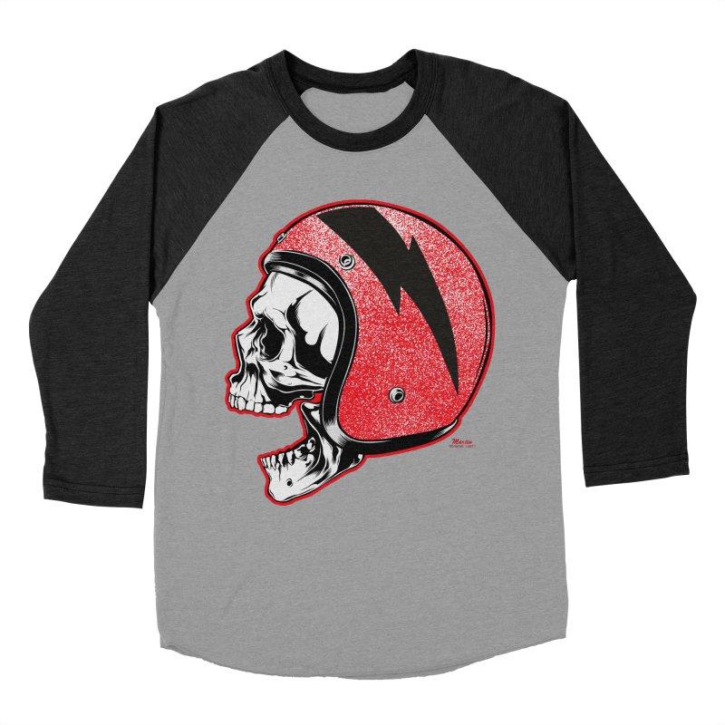 Helmet Skull Men's Baseball Triblend T-Shirt by EngineHouse13's Artist Shop