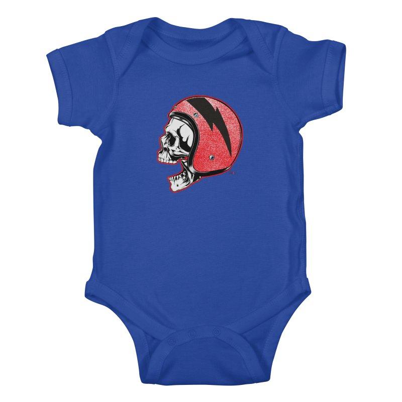 Helmet Skull Kids Baby Bodysuit by EngineHouse13's Artist Shop