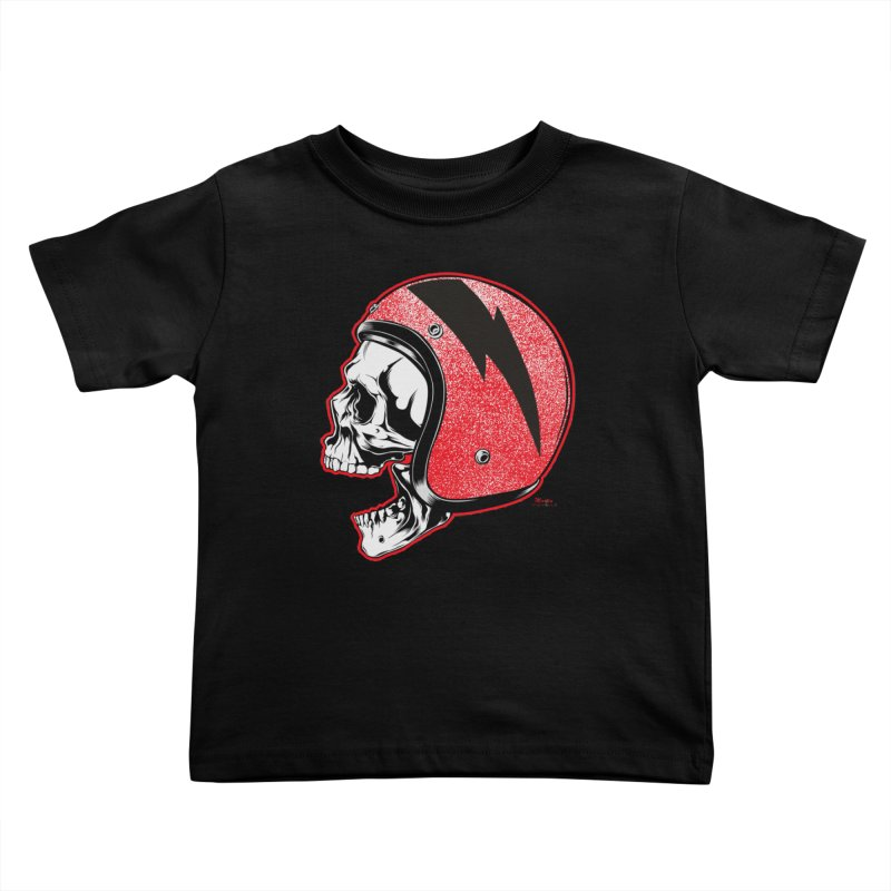 Helmet Skull Kids Toddler T-Shirt by EngineHouse13's Artist Shop