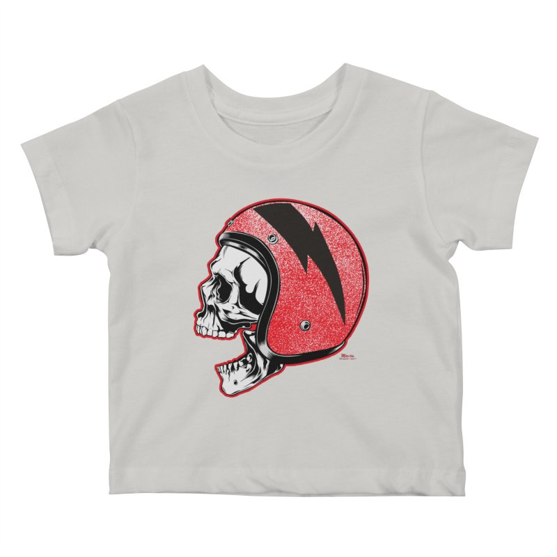 Helmet Skull Kids Baby T-Shirt by EngineHouse13's Artist Shop