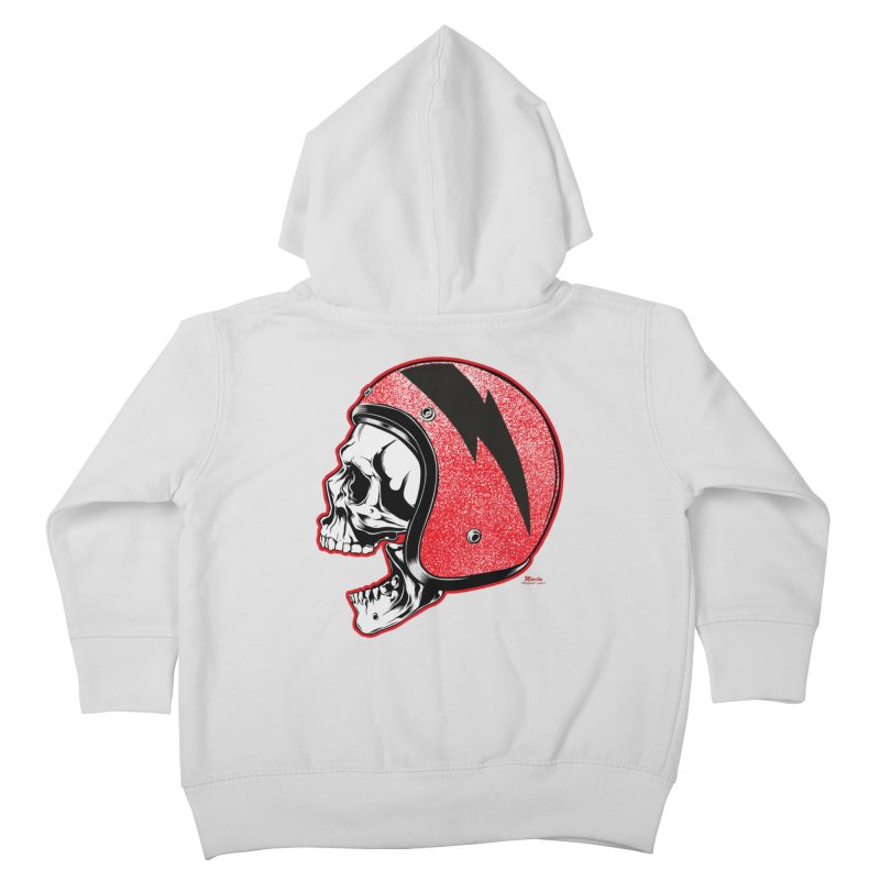 Helmet Skull Kids Toddler Zip-Up Hoody by EngineHouse13's Artist Shop