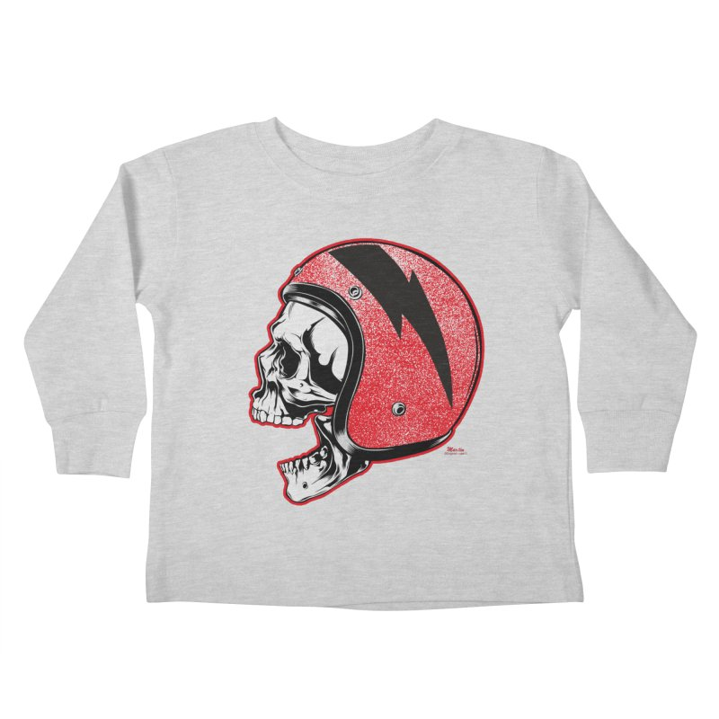Helmet Skull Kids Toddler Longsleeve T-Shirt by EngineHouse13's Artist Shop
