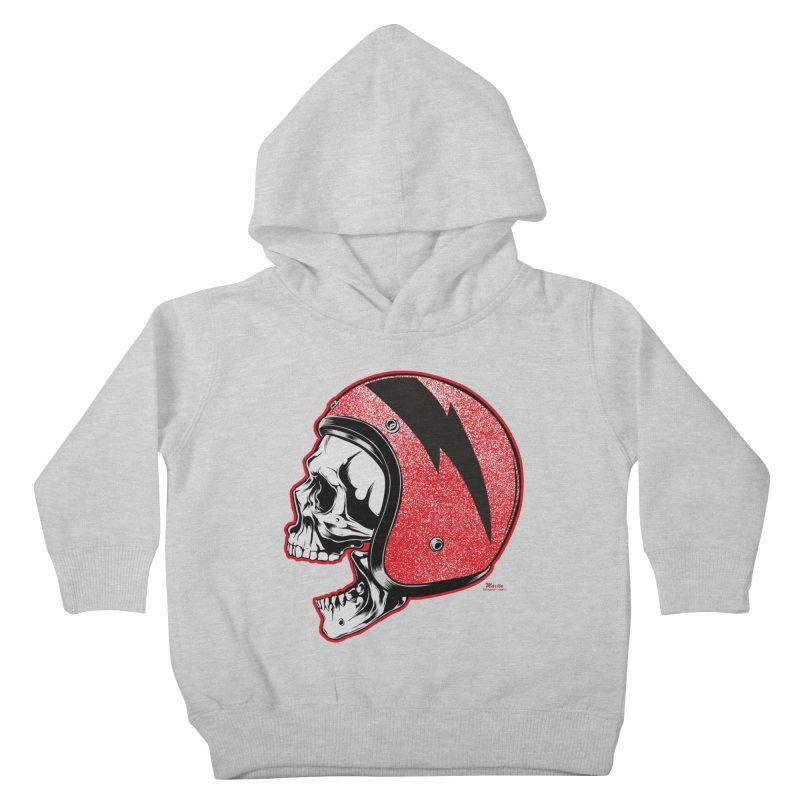 Helmet Skull Kids Toddler Pullover Hoody by EngineHouse13's Artist Shop