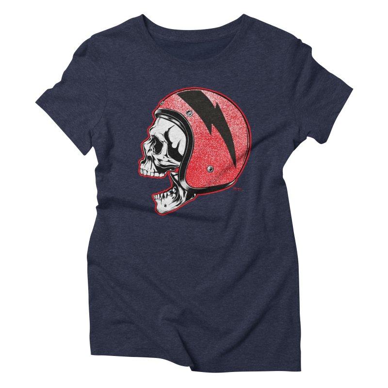 Helmet Skull Women's T-Shirt by EngineHouse13's Artist Shop