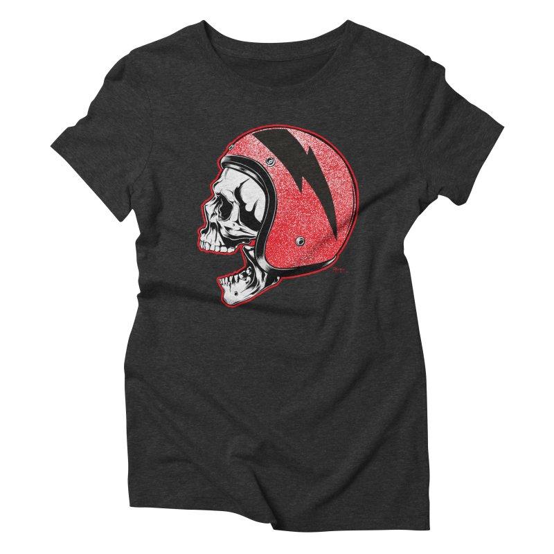 Helmet Skull Women's Triblend T-Shirt by EngineHouse13's Artist Shop