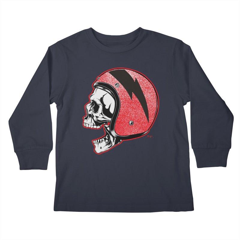 Helmet Skull Kids Longsleeve T-Shirt by EngineHouse13's Artist Shop